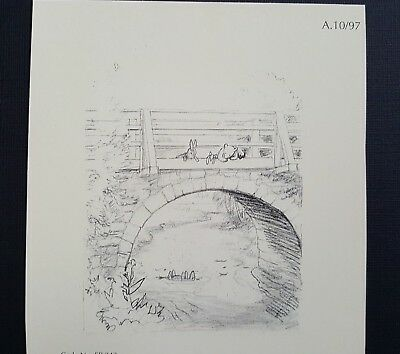 Winnie the Pooh print of original drawing by E H Shepard