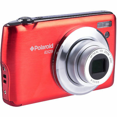 Polaroid iEX29 18MP 10x Digital Camera (Red) - MISSING BATTERY & CHARGER ™