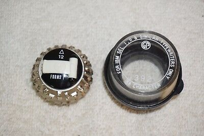 IBM Selectric I II GP Type Ball Element Forms I Font 12 Pitch Typewriter
