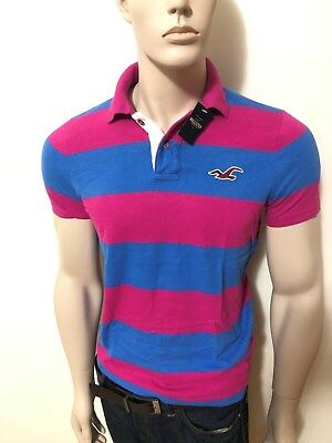 bcef4150 NWT Hollister Hoc by Abercrombie Men's Slim Muscle Fit Striped Polo T-Shirt  Logo