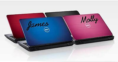 2x Personalised Laptop Name Stickers