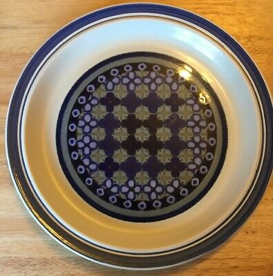 Vintage 1970s Royal Doulton 'Tangier'  Lambeth Stoneware Dinner Plate LS1005