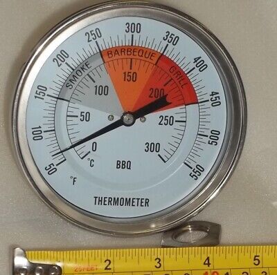 """5"""" BBQ Pit Smoker Grill Thermometer Temperature Gauge Barbecue Gas Wood Charcoal"""