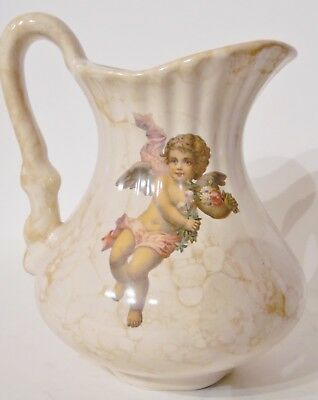 Vintage ~ Antique VB Athena California Pottery Cherub Angel Pitcher