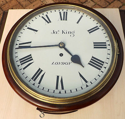 "Antique 12"" Dial Wall Clock Jas. (James) King, London"