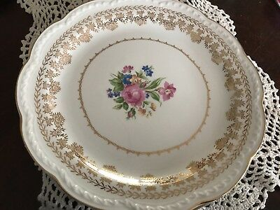 Vintage 1950s Stetson American Beauty dinner plates lot of 4 (1)