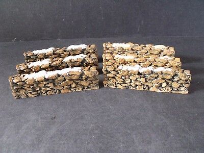 """Dept 56 General Village  """"stone Wall""""  - 6-Pc - #52629 - New In Box"""
