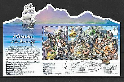 Pitcairn 2017 NEW ISSUE Women of the Bounty M/S  MNH