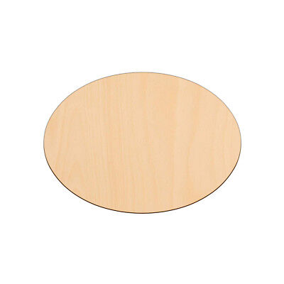 OVAL Shape Craft Blanks 17.8x12.7cm BIRCH Wood Decoration Embellishment Tag