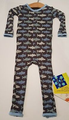 NWT Kickee Pants (9-12 Months) Stone Trout Coverall
