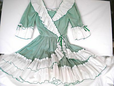 """""""Call It Fancy"""" Square Dancing Dress w/Sash, Size 10 w/20"""" Skirt Made in USA"""