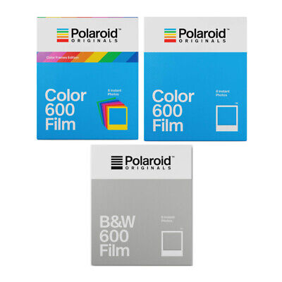 Polaroid 600 Film Triple Pack ( 1 x B&W/ 1 x Color / 1x Color w/Color Frames)