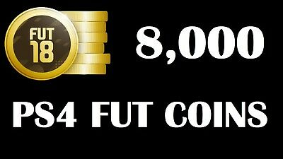 FIFA 18 8K 8000 Coins PS4 FUT Ultimate Team @@ FAST & SAFE @@