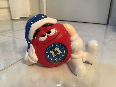 M&M's Red Character Alarm Clock- Brand New