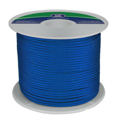 POLYESTER DOUBLE BRAID 6MM X 200M BLUE Yacht Rope Sailing Rope Dinghy Line