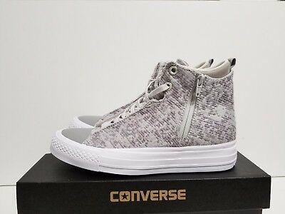 WOMENS CONVERSE CHUCK Taylor Selena Winter Knit Mid Mousedolphinwhite 553356C