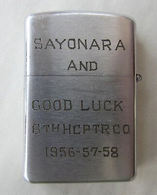 Konwal Lighter 6th Helicopter Co Army Vietnam Inscribed Name 1956-58 Sayonara