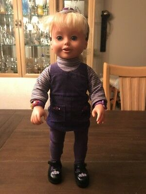 """Vintage Playmates 1999 Amazing Ally Talking Interactive Doll 18"""" Tall"""