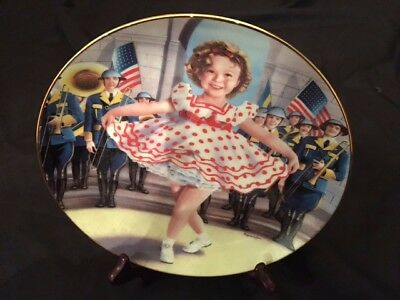 "Danbury Mint Collector Plate  Shirley Temple  ""Stand Up and Cheer"""