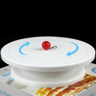 Rotating Revolving Plate Decorating Cake Turntable Kitchen Display Stand 28cm