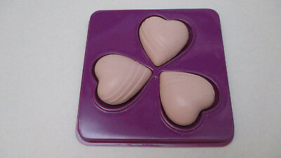 AVON Valentine Soaps  -  3 Pink  Heart Shaped Soaps    NEW
