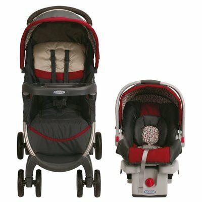 Graco Fastaction Fold Click Connect Travel System Stroller, Finley, NEW