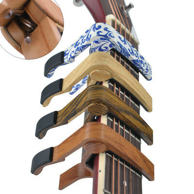 New Quick Change Wood Grain Clamp Key Capo For Classic Guitar Electric Acoustic