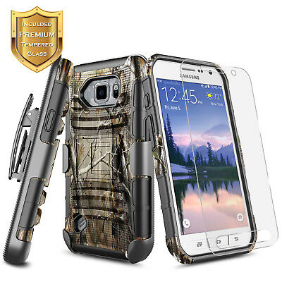 For Samsung Galaxy S6 Active / S6 | Shockproof Belt Clip Holster Kickstand Case