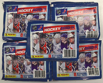 2010-11 Panini Hockey - Lot of 50 Factory Sealed Sticker Packs - Box Worth
