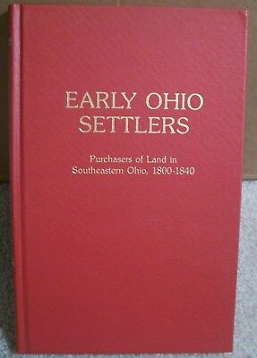"""1800-1840 """"early Ohio Settlers"""" Land Purchasers 1000's Names Listed!"""