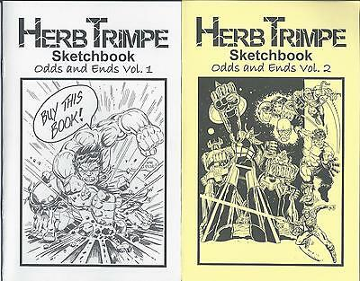 HERB TRIMPE Sketchbook Set Odds and Ends Vol. 1 & 2 (Unsigned) NM from Estate