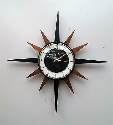 VINTAGE Retro JUNGHANS Electronic STARBURST Wall CLOCK Not WORKING Properly QZZQ