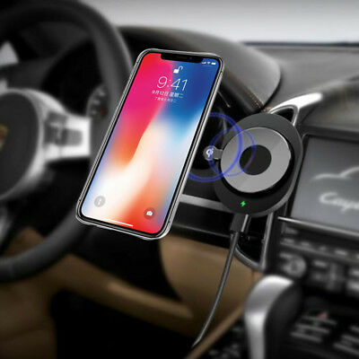 Qi Wireless Magnetic Car Air Vent Fast Charger Dock Mount Holder lot For iPhoneX