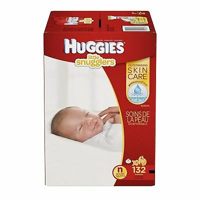 HUGGIES LITTLE SNUGGLERS, Baby Diapers, Size 2, 132ct