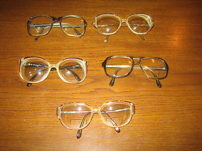 Lot of 5 Vintage Glasses 2 Christian Dior Germany Tortoise Shell Retro Eyeglass