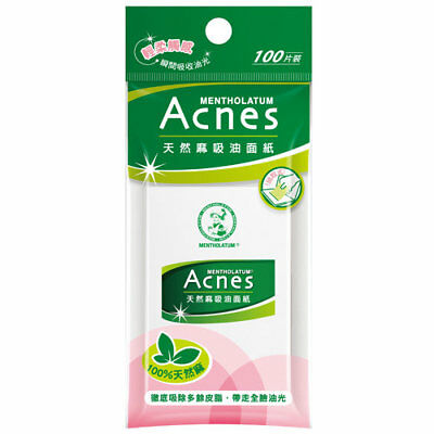 [MENTHOLATUM ACNES] 100% Natural Hemp Sweat & Oil Blotting Paper 100 Sheets NEW