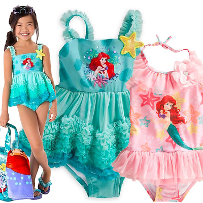 Disney The Little Mermaid Ariel Deluxe Swimsuit Girls 4-12 Swimming wear