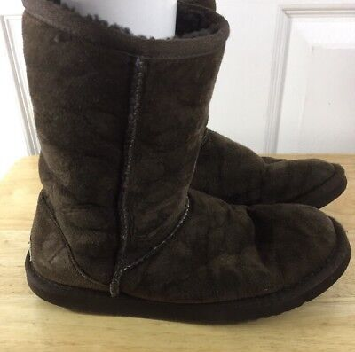 ea70cf7cfb1 UGG WOMEN'S BOOTS Size 5 Classic Short 5825 Brown Wool Lined Leather