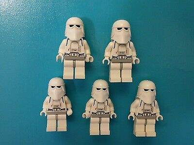 Lego Star Wars Lot of 5 Minifigures Snowtrooper White Hands 4483 Hoth AT-AT!