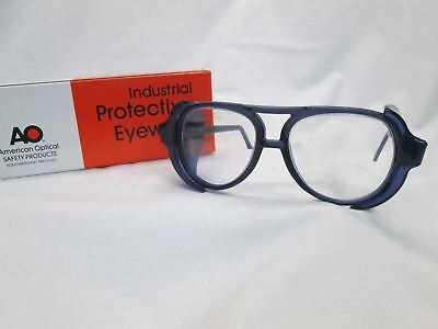AMERICAN OPTICAL AO Vintage New Old Stock Safety Glasses Pilot Blue Clear