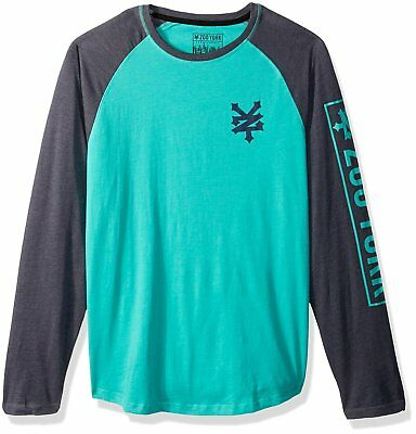 ZOO YORK New Mens Long Sleeve T Shirt Raglan Tee HUDSON (S M L)