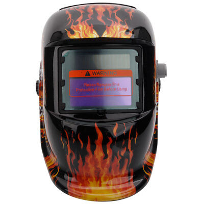 Baffles Skull Solar Powered Auto Darkening with Upgraded Welding Helmet