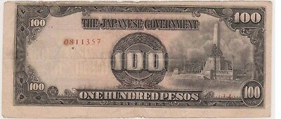 (N10-42) 1940s Japan 100 peso invasion bank note (AQ)