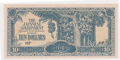 (N10-39) 1940s Japan $10 invasion bank note (AN)