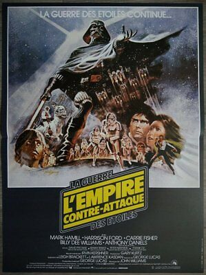 L'EMPIRE CONTRE ATTAQUE Affiche Cinéma 53x40 Movie Poster STAR WARS Retirage 90