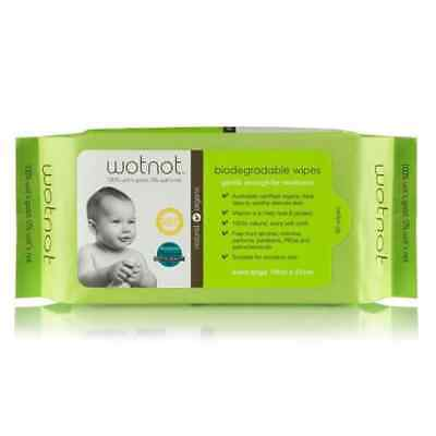 New Biodegradable Natural Baby Wipes 80Pk
