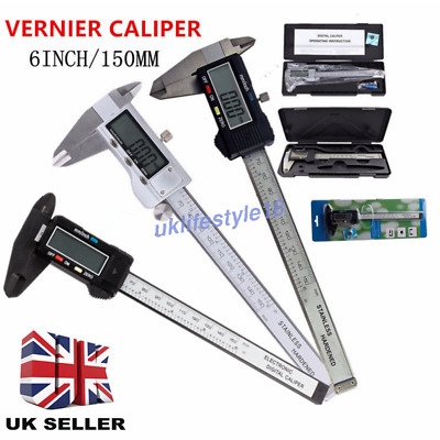"6"" 150mm Digital Vernier Caliper Electronic Micrometer LCD Measuring Gauge Tool"