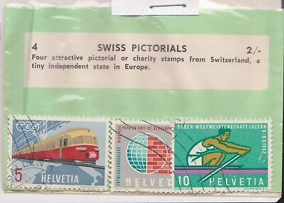 (V6-55) 1962 Switzerland old stamps pack 3stamps pictorials (BC)