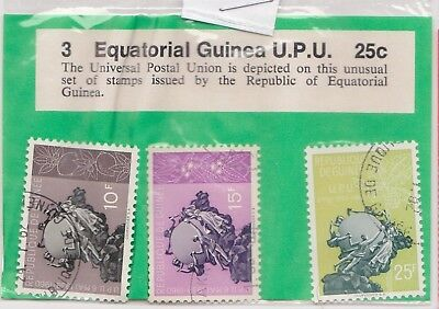 (V6-38) 1980 Guinea old stamps pack 3stamps UPU (AM)