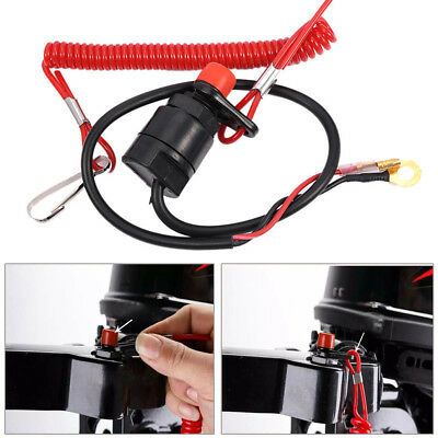 Outboard Cut off Boat Motor Kill Stop Switch Safety Tether Lanyard For Yamaha